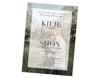 Beautiful Wedding Invitation Package -- Digital
