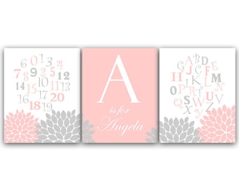 Alphabet Art, Nursery Wall Art, DIGITAL Download Nursery Print, ABC Art, Personalized Kids Wall Art, Modern Nursery Art - KIDS70