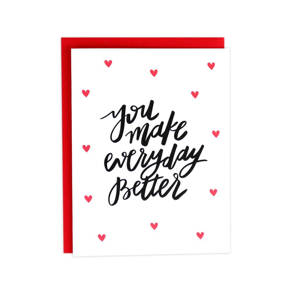 Valentines Day Love Card Boyfriend Valentines Card Husband