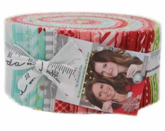 Vintage Holiday Jelly Roll by Bonnie & Camille for Moda Fabrics