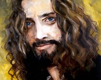 Chris Cornell Portrait Painting Fan Art