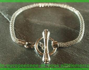 N41 19 cm charms silver plated European Bead Bracelet