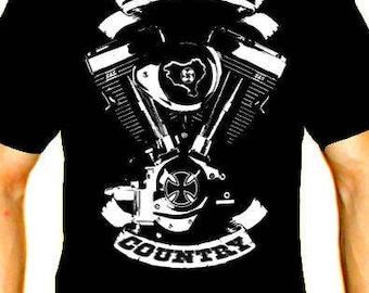 Basque country men t shirt different sizes chopper motorbike custom