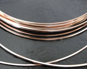 Rose Gold Filled Square Half Hard Wire - 16, 18, 20 gauge, Made in USA