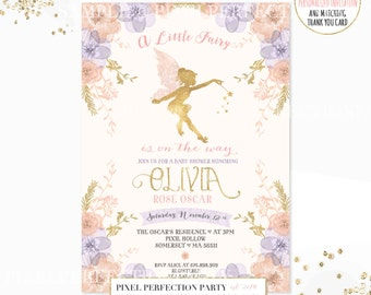 Fairy Baby Shower Invitations Gallery Invitation Templates Free