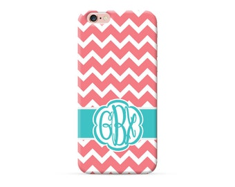 iPhone 8 Case, iPhone 8 Plus Case, iPhone X Case, iPhone 7 Case, iPhone 6 case, Monogram, Carol Chevron, personalized phone case, clear case