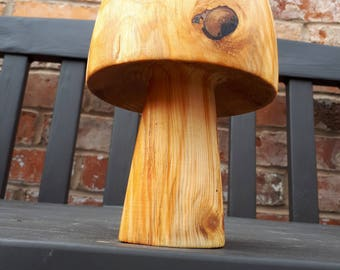 Hand made solid wood toad stool
