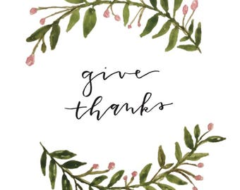 Give thanks printable PDF