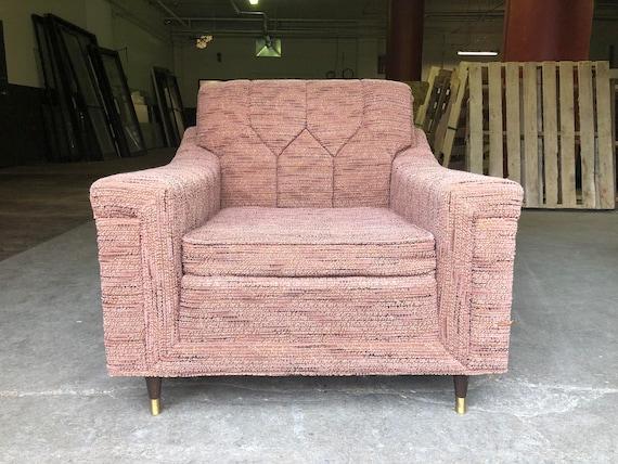 Items similar to Mid Century Modern Vintage Bohemian Pink Mauve ...