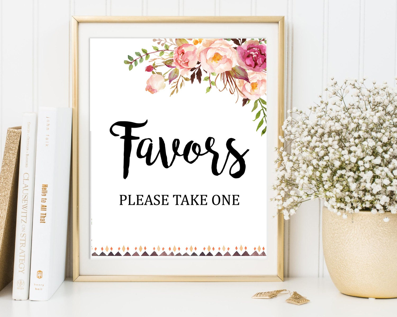 Floral Boho Favors Sign Floral Boho Wedding Sign Tribal Boho
