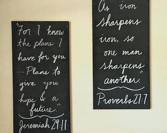 Choose Your Bible Verse - Home Decor Scripture Handmade Custom Wall Sign Handpainted Encouragement Canvas
