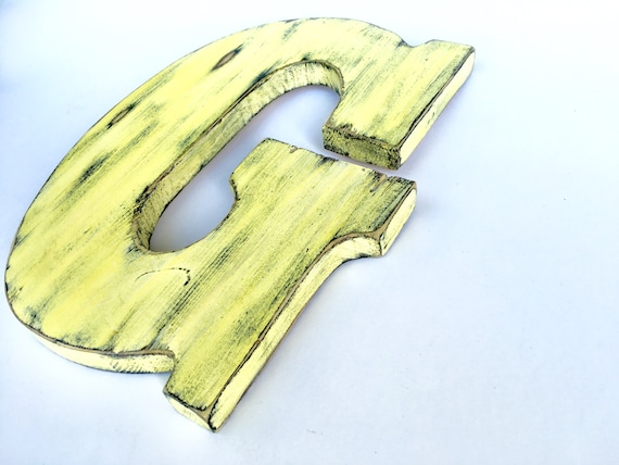 wooden letter G pine wood wall Decor sign living room decor