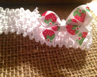 White Baby Headband With Interchangeable Bows