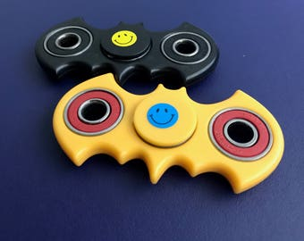 Smiley face customized Hand Spinner Batman EDC Handspinner Fidget Spinner Tri-Spinner Fidget Toy Adults Focus Anti Stress Gifts