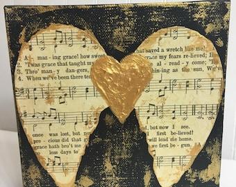 Amazing Grace Angel Wings, angel wings art, guardian angel art, amazing grace art, spiritual art, memorial gift, Valentine's gift