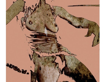 MOULDGIRL - Mixed Media Fine Art Ltd Giclee Print
