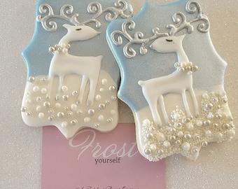 Christmas Cookies Reindeer Decorated Iced ~1 Dozen~Frost Yourself Cookies