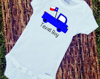 Texas Boy Onesie/Onesie/Custom/Personalized/Gift/boys