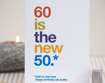 Funny 60th birthday card 60 birthday witty birthday card funny 60th birthday card sale second 60 birthday witty card rude 60th bookmarktalkfo Choice Image