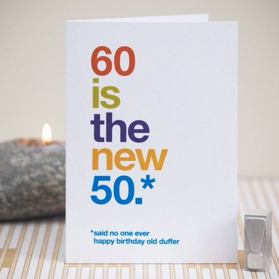 Funny 60th birthday card 60 birthday witty birthday card like this item bookmarktalkfo Choice Image