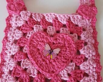 Little girls hand crochet bag
