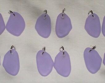 "Cultured Lilac ""Sea Glass""  Freeform Flat"
