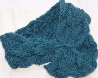 Instant Download pdf Hand Knitting Pattern - The Double Cabled Neck warmer