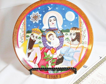 1985 Konigszelt Bayern Gift of the Magi Collector Plate - Hedi Keller Collection