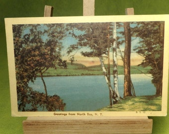 North Bay, New York Vintage Post Card with Message - Postmarked 1947 - 1 Cent Stamp