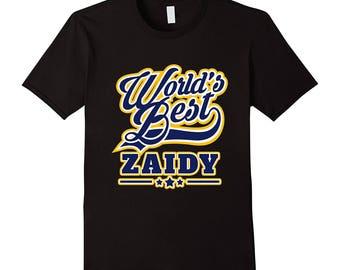 Worlds Best Zaidy T-Shirt Jewish Yiddish Grandfather