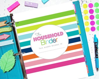 Home Management Binder, Printable Planner, Household Binder - Budget, Cleaning, Letter Size, Big Happy Planner