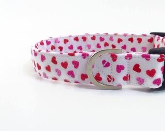 Heart Dog Collar   Valentine Dog Collar   Girl Dog Collar   Dog Collar   Pink Dog Collar   Small Dog Collar   Cute Collar   Puppy Collar