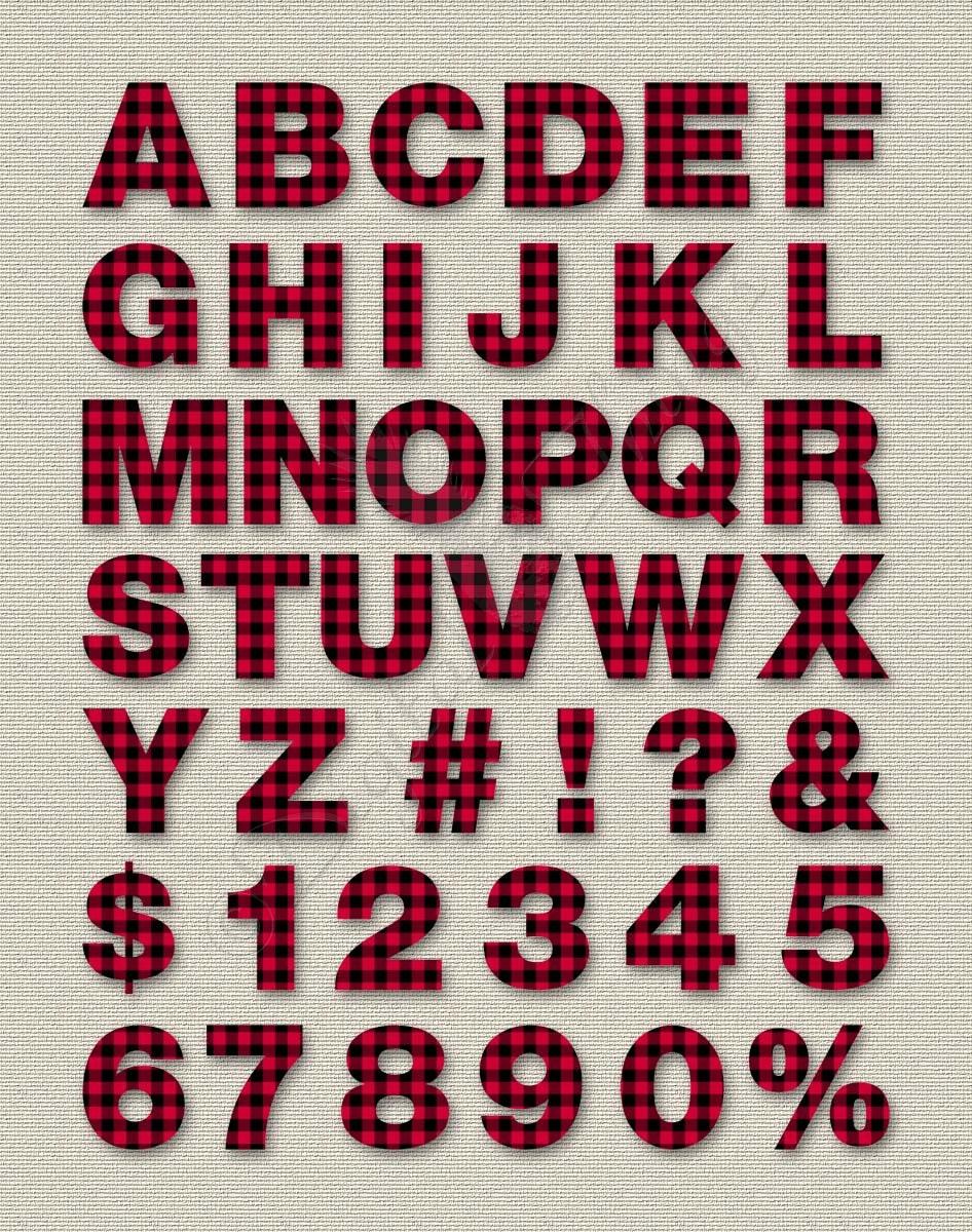 Printable Digital Alphabet Letters Numbers Clip Art Clipart Buffalo
