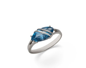 Marabelle. Handmade Aquamarine Ring. PREMIUM FREE SHIPPING