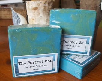 Soap The Perfect Man Handcrafted Soap Gift Bachelor Favors Birthday Man