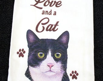 Black and White Cat Breed Cotton Kitchen Dish Towel
