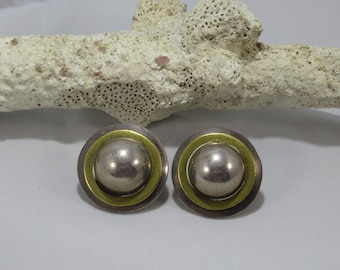 Vintage Mexico 925 Silver Earrings OMA TM-212 Made in Mexico Silver