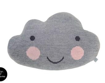 Knit Cloud Pillow :) GRAY