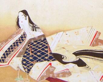 Vintage Japanese Print - Vintage Magazine Insert - Magazine Page - Japanese Woman Print - Bijin-ga - Magazine Cut Out