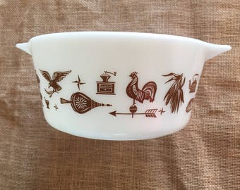 SALE! Was 14.00, now 11.00!!! Early American Pyrex 1.5 Quart Mixing Bowl 475 B 1960s Vintage Pyrex Bowl