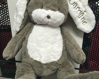 Personalized Easter BUNNY monogrammed rabbit stuffed animal plush bunny 18 inch tall