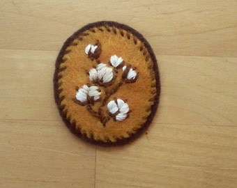 Cotton Badge: Soft-Spoken Version (patch, pin, brooch, magnet)