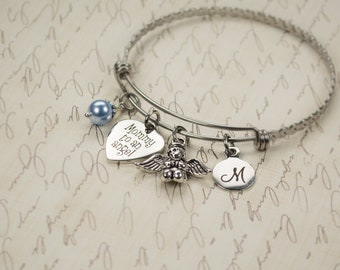 Personalized Mommy to an Angel Bracelet  Elegant Engraved Sympathy Gift Dainty Custom Remembrance Bracelet Loss of Baby Child Miscarriage 83