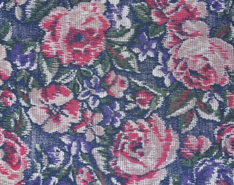 Cotton Fabric By The Yard Floral Print