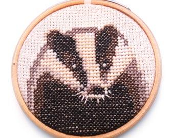 Badger cross stitch pattern instant download