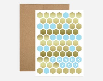 Honeycomb Thank You Greeting Card