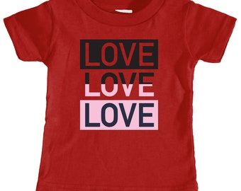 Love,Love,Love Toddler T-shirt (Red)