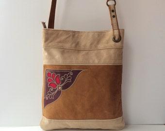 Crossbody Bag Suede Leather Crossbody Bag Woman Bag Beige Cream Red Original Woman Bag Everyday Bag, Mothers Day Gift Idea