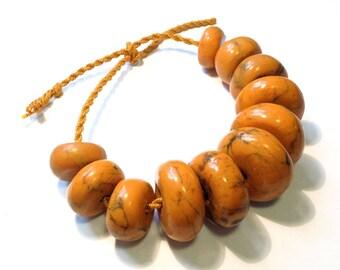 African amber phenolic resin beads