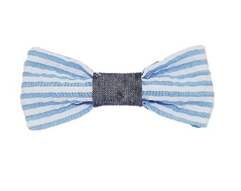 Summer Searsucker dog bow-tie|Wedding|Nautical|Hipster|Gifts for dogs and dog lovers